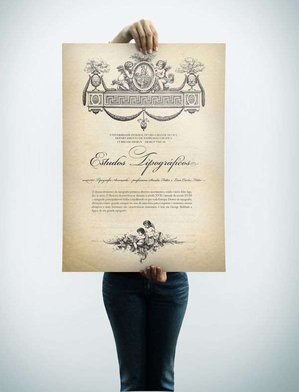 Baroque Type - Tipografia Barroca by Guilherme Haupenthal, via Behance