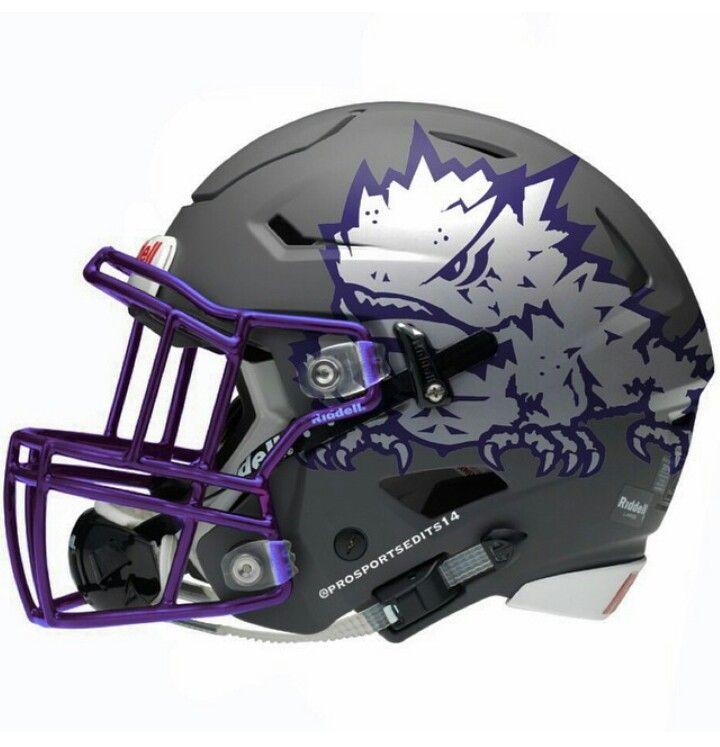 TCU Horned Frogs White Helmet - SportsLogos.Net News