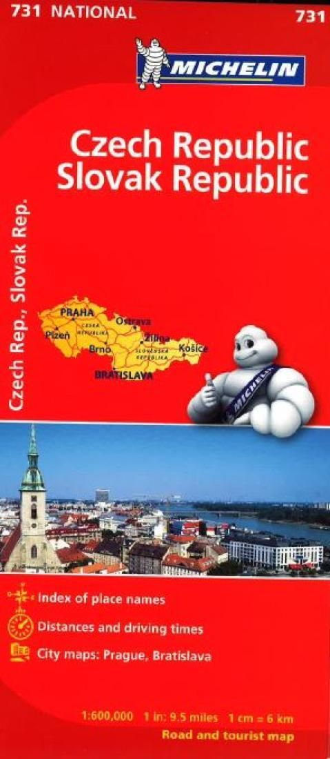 Czech and Slovak Republics (731) by Michelin Maps and Guides