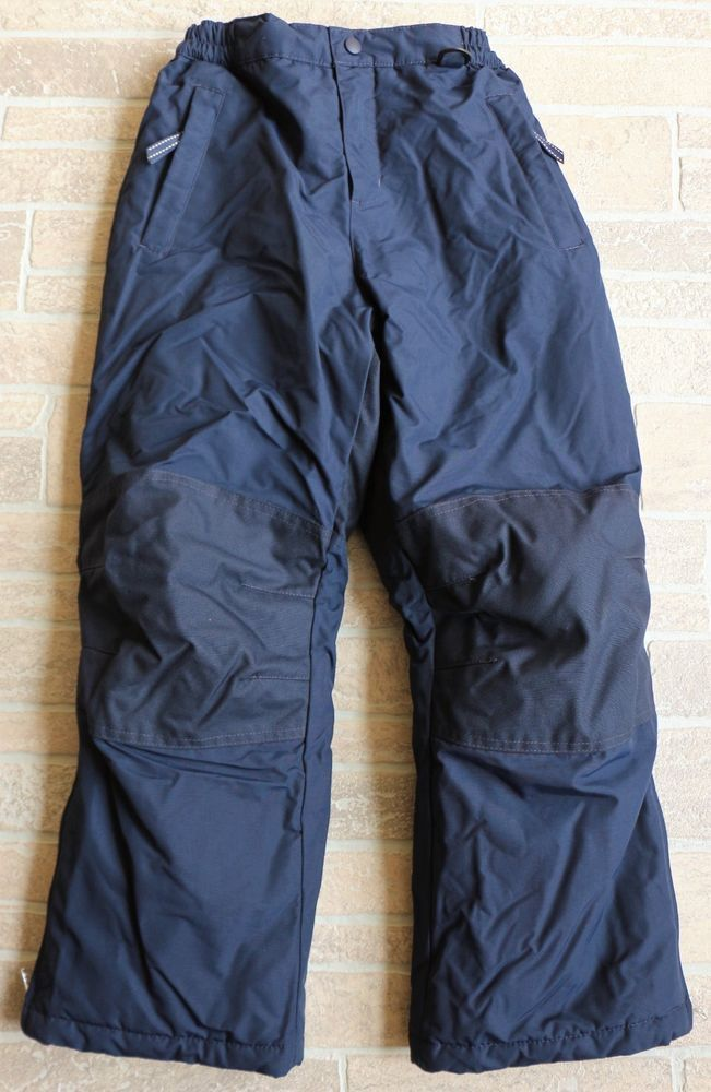 c8ec41967 Lands End Navy Blue Ski Winter Snow Pants Kids Boys 10 Regular Nylon ...