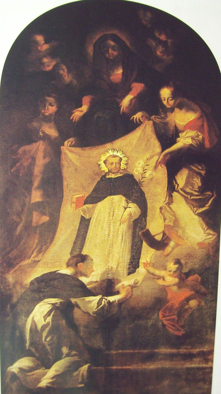 Josef Winterhalder ml. Das Wunder von Soriano 1768 Dominikánský kostel Znojmo, hlavní oltář boční kaple