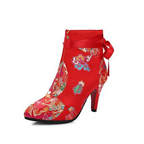 ENMAYERレッド女性のための中国のスタイルの新しいファッション冬の足首のブーツ花のジッパーの魅力薄いハイヒール... https://www.amazon.co.jp/dp/B01N7BUR25/ref=cm_sw_r_pi_dp_x_QNopybZC4E331