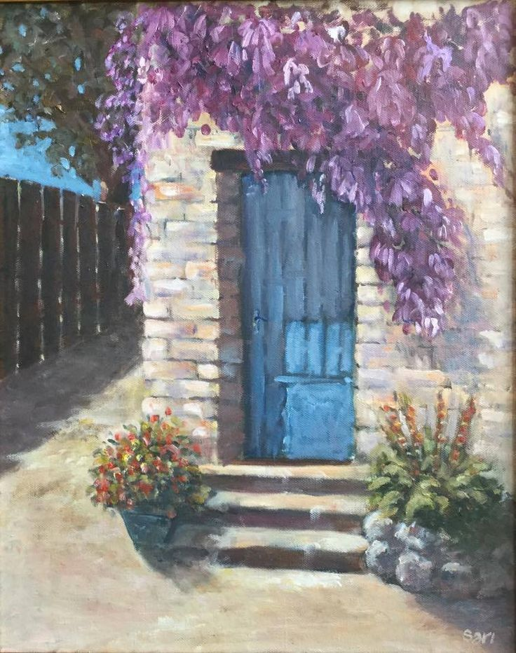 Kékkapu / Mavi kapı / Blue door 50 x 40 cm oil on canvas