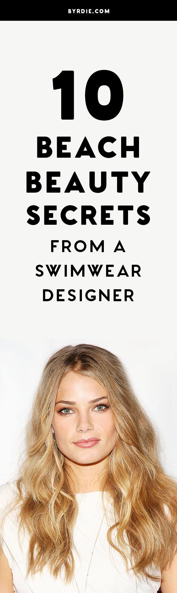 Tori Praver's beach beauty secrets