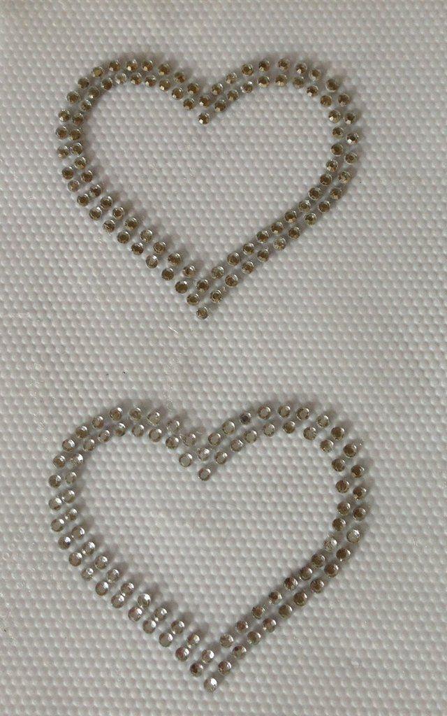Applicazione/toppa strass hotfix termoadesivi coppia di cuori, by Le mani di Ema, 3,50 € su misshobby.com