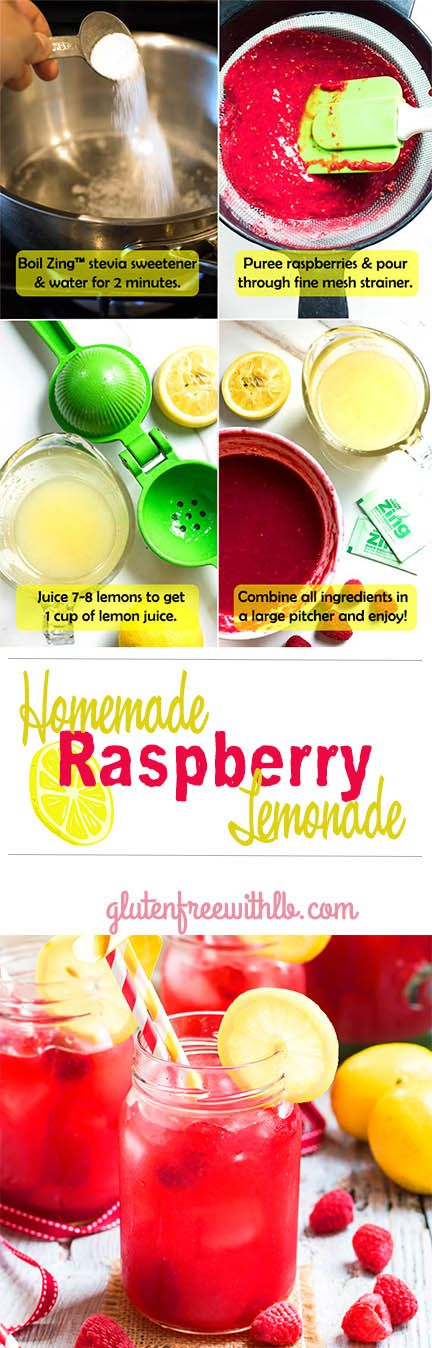 ... Lemonade. Made with @ZingStevia , fresh lemons and raspberries! #Sweet