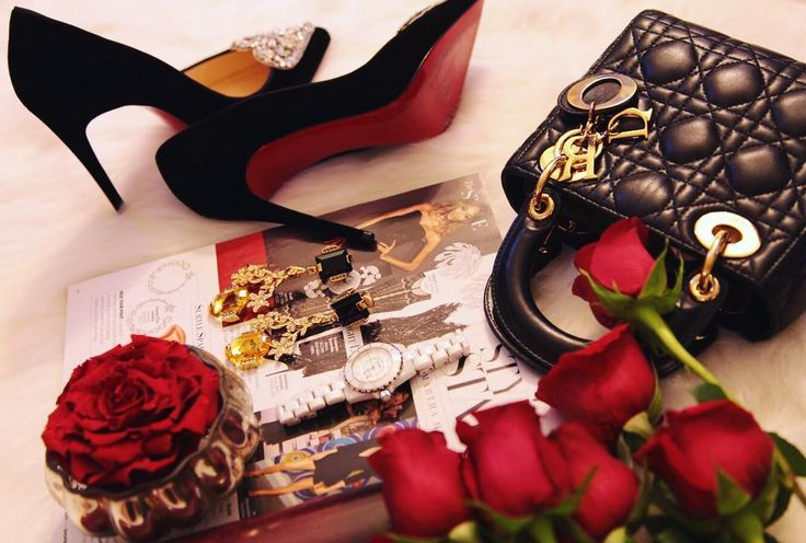 Red roses, red soles & Christian Dior Bag | See Instagram photos and videos from A Fashion Blog By Tina Lee (@ofleatherandlace)