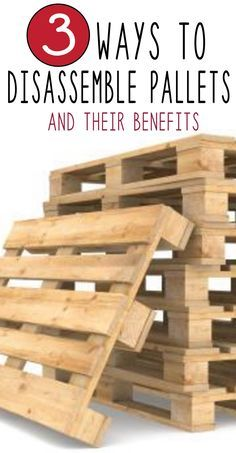 Learn how to take apart a pallet 3 different ways, find which one is best for you and your DIY project. The first way to disassemble...