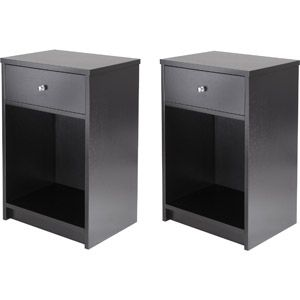 Ladan Nightstand, Set of 2.  Add some more color with something decorative in the bottom of the nightstands!