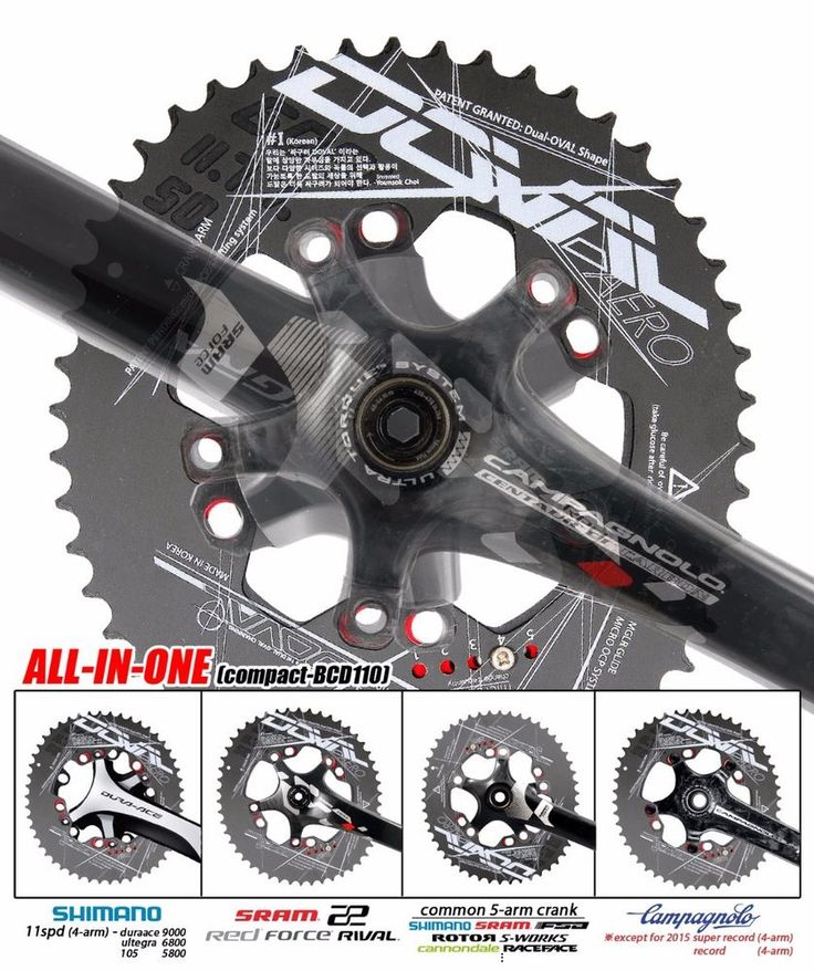 4G doval(11.7~16%) BCD110 chainring for 4~5arm (buy 3+ =>Free EMS ship) #Doval
