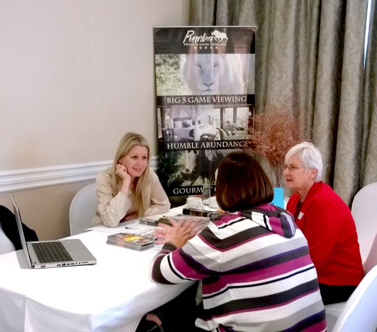 Pumba Private Game Reserve Table at the Exclusive Getaways workshop for travel professionals in Port Elizabeth on 28 Aug 2014