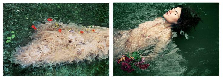 Silvia Camporesi, Ofelia, 2006   Dittico  Digital Lambda print, montata su diasec Collezione privata