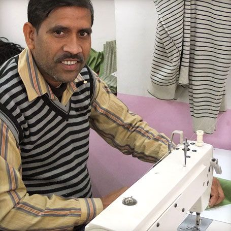 Say hello to Idrish, one of our tailors at the Himalaya Tailoring Centre. Idrich comes from a family of tailors in Bengal in the West of India and learnt how to sew in his father's tailoring shop as a teenager. Read more about his life including his interest in making babies' clothes and bibs! https://eternalcreation.com/tailor-32.php