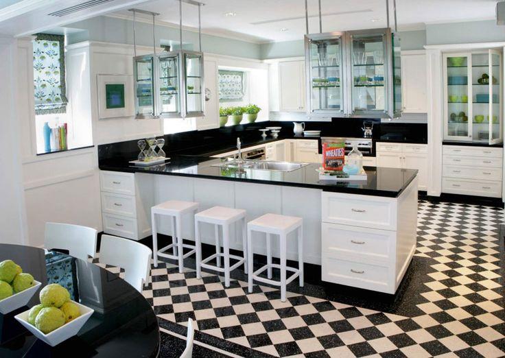 Modello di cucina moderna con penisola n.28