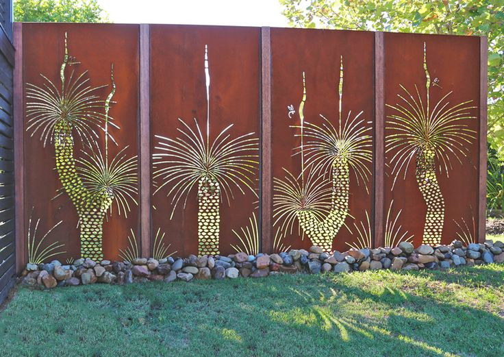 Urban Design Systems |GRASS TREE- Decorative Laser Cut Metal Screens