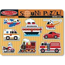 "Melissa & Doug Vehicles Sound Puzzle - Melissa & Doug - Toys ""R"" Us"