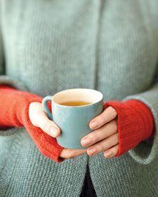 recycled sweater fingerless gloves.