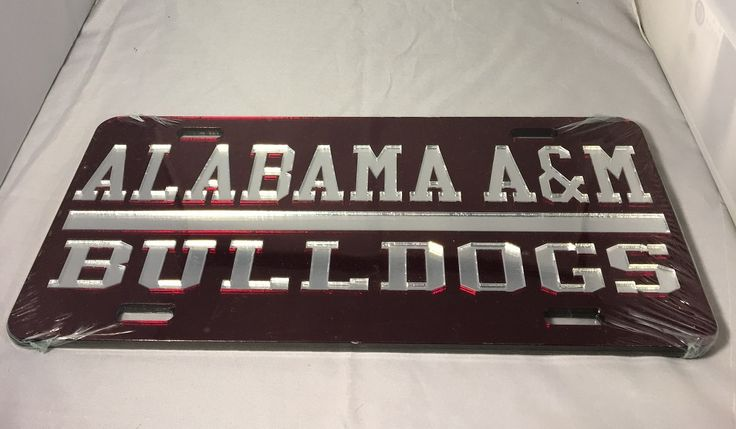 Alabama A&M University Bulldogs License Plate - Brothers and Sisters' Greek Store
