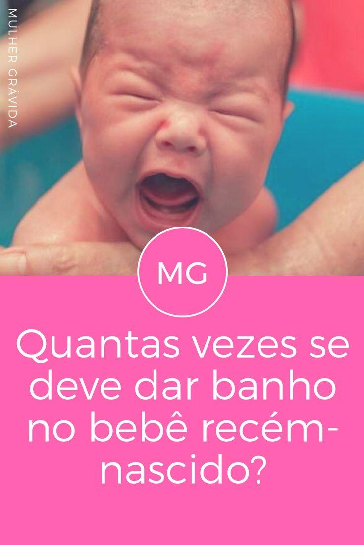 Dar banho no recém-nascido | Quantas vezes se deve dar banho no bebê recém-nascido?