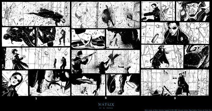 ย้อนดูเกร็ดเล็กเกร็ดน้อยของหนังเรื่องสำคัญส่งท้ายยุค 90 The Matrix - storyboard