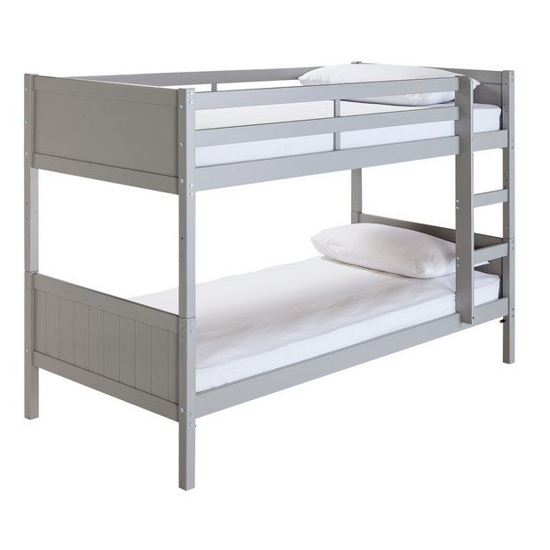 Home Kids Detachable Bunk Bed With 2 Mattresses Grey At Argos Co