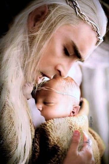 """Oh, Ella...."" Said Thranduil as he gently took his tiny son from his wife's arms, ""He's..."" Ellerian looked up at him with joy filling her gaze. ""He's beautiful..."" She murmured. ""Our little leaf."""