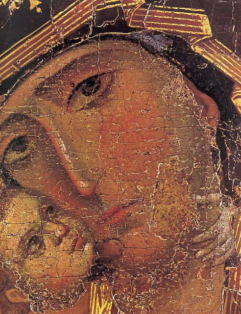 detail of the Vladimir Mother of God by jimforest, via Flickr