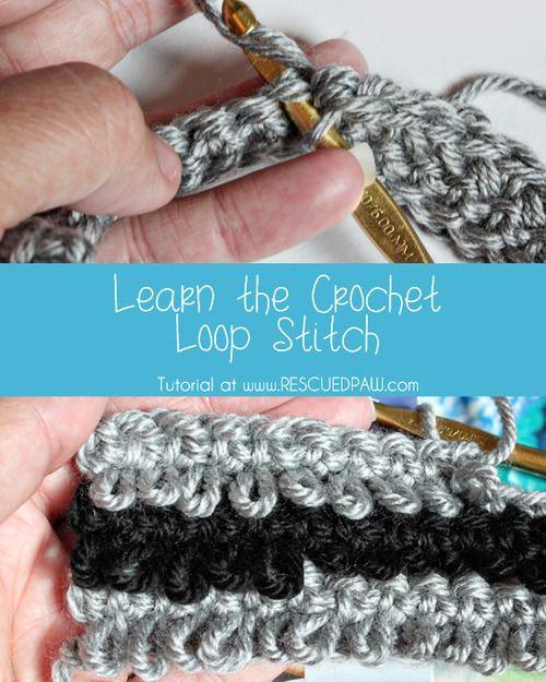 Crochet Loop Stitch - Tutorial ❥ 4U //  hf http://www.pinterest.com/hilariafina/