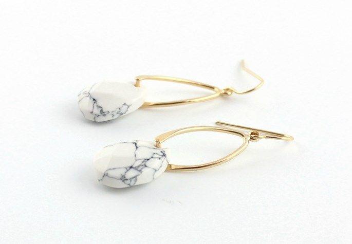 Stone Drop Earrings I 2 Colors | Jane