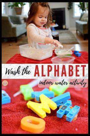 Alphabet Wash: Indoor Water Play