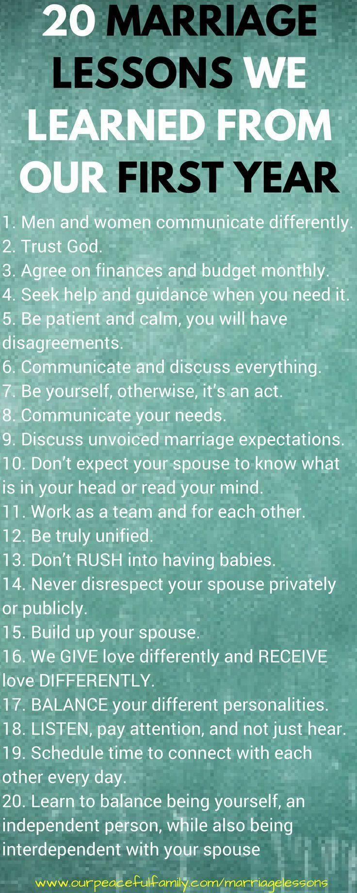 20 lições de casamento que aprendemos desde o primeiro ano de casamento   – Relationships