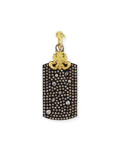 Armenta Old World Pavé Diamond Rectangle Enhancer