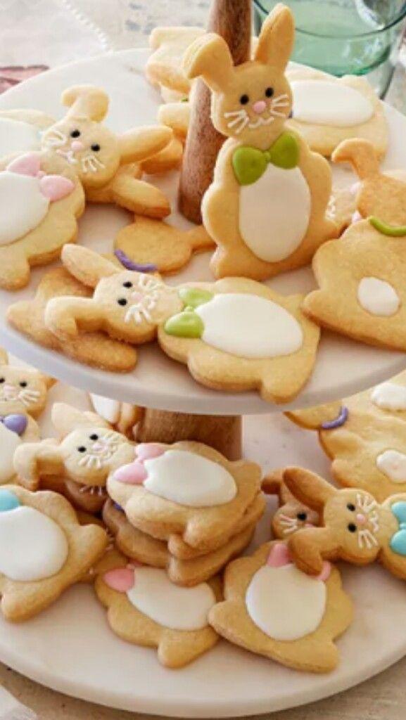 Adorable Easter bunny sugar cookies.
