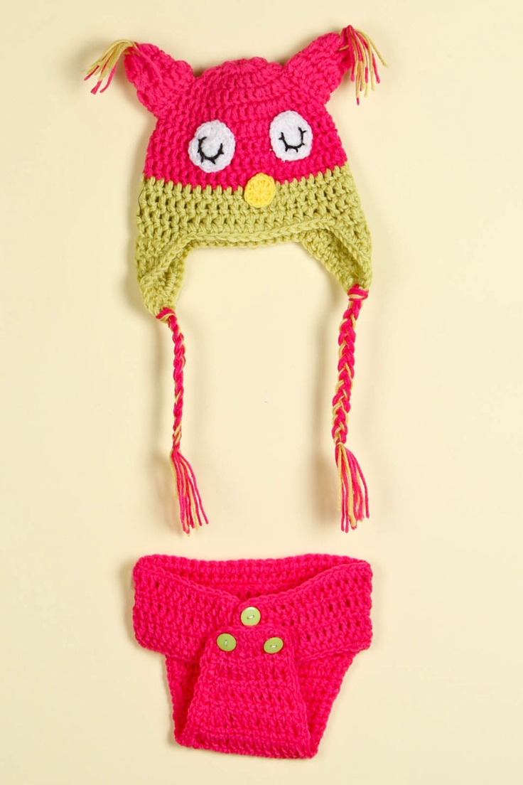 Owl Hat And Diaper Cover