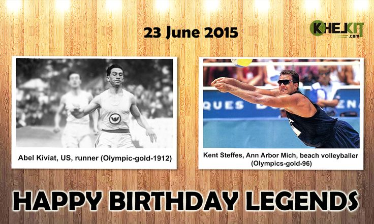 Happy Birthday #Sports #Legends #AbelKiviat - was an American middle distance runner. He set a 1500 meter #worldrecord of 3:55.8 minutes in Cambridge, Massachusetts in June 1912.  #KentSteffes - earned the #AVP Pro Beach Volleyball Tour No. 1 ranking at age 24, the youngest player to do so.He and his teammate Kiraly, won the gold medal in beach volleyball at the 1996 #SummerOlympics , the first to win the gold medal in this event.