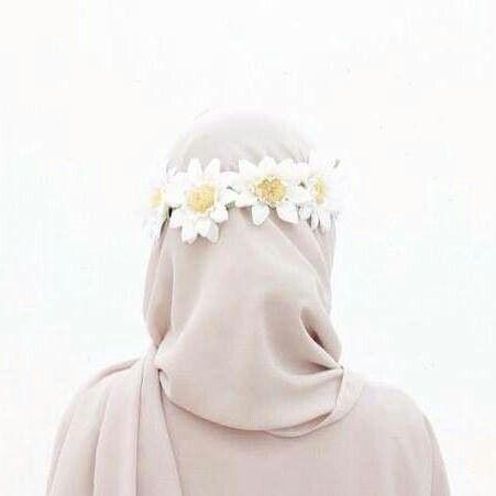flower crown + hijab