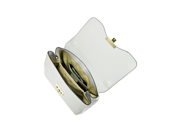 Dámska kožená kabelka Sofia 009, materiál koža, dostupná vo farbách ružová, šedá, krémová, blankytná.