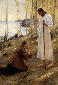 Albert Edelfelt: Kristus ja Mataleena, 1890
