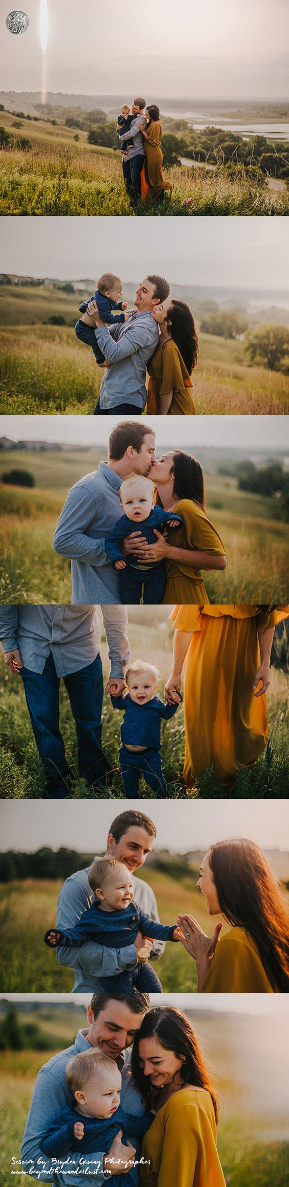 Beautiful fall family of 3 pictures. What to wear for family pictures with little kids.