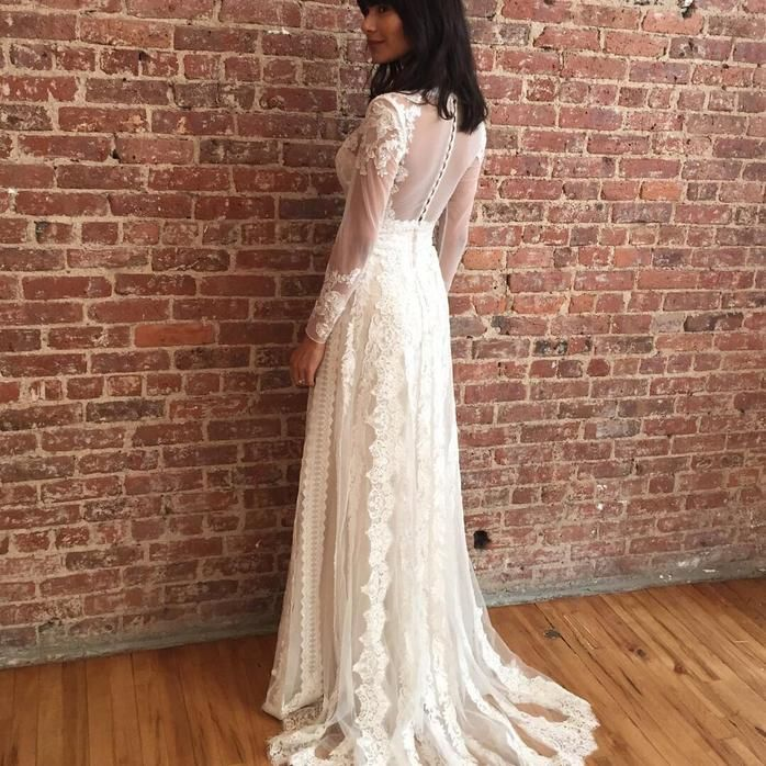 Melissa Sweet  Linear Lace Wedding Dress - Davids Bridal