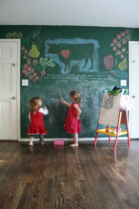Love The Chalkboard Wall For A Playroom Idea Green Or