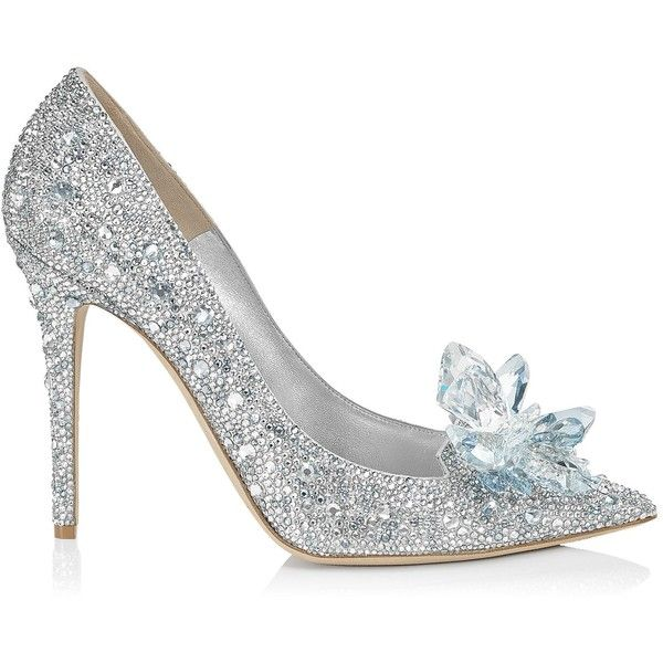 Jimmy Choo CINDERELLA 110 Crystal Covered Pointy Toe Pump 'Cinderella... found on Polyvore