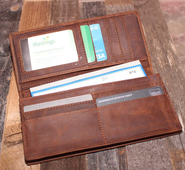 Basics — Brown Leather Wallet — FREE SHIPPING — Limited Quantities – Wallet Hipster