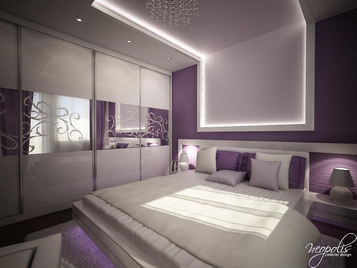 33 best images about faux plafond on pinterest interior for Purple bedroom designs modern