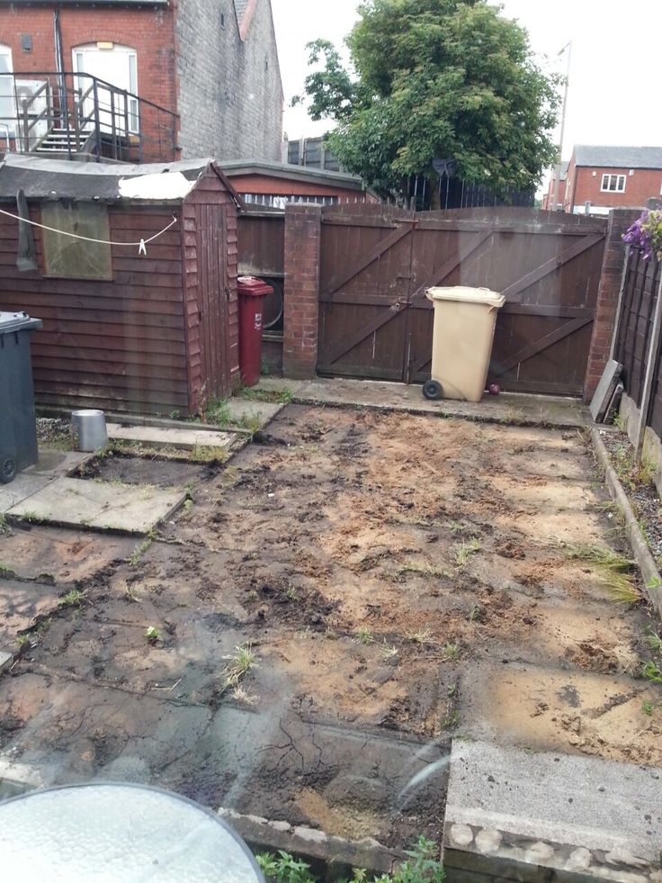 Day one of child friendly play safe garden project