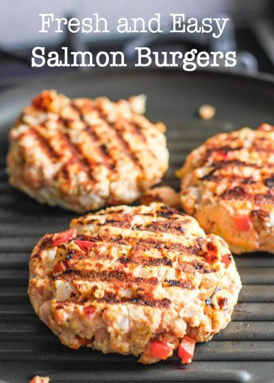 Fresh and Easy Salmon Burgers! Cook indoors or out!