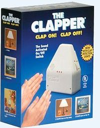 The Clapper was the modern eighties way to turn your electronic devices on or off without the hassle of getting off the couch. The switch was designed to respond to a specific acoustic signal: two claps.