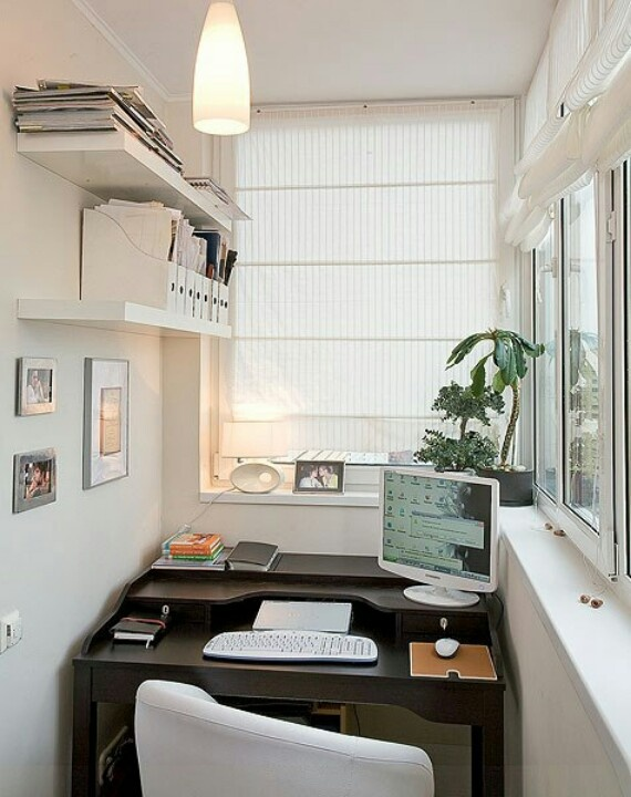 Balcony idea - while not a gardening idea it's a possibility in an enclosed balcony.