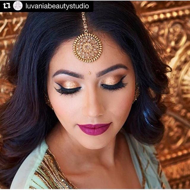 Insta makeup artists are amazing! Gold tones are beautiful with our warm skin tones  Indian Fashion and Couture Beauty Makeup Gold  http://amp.gs/pxvL