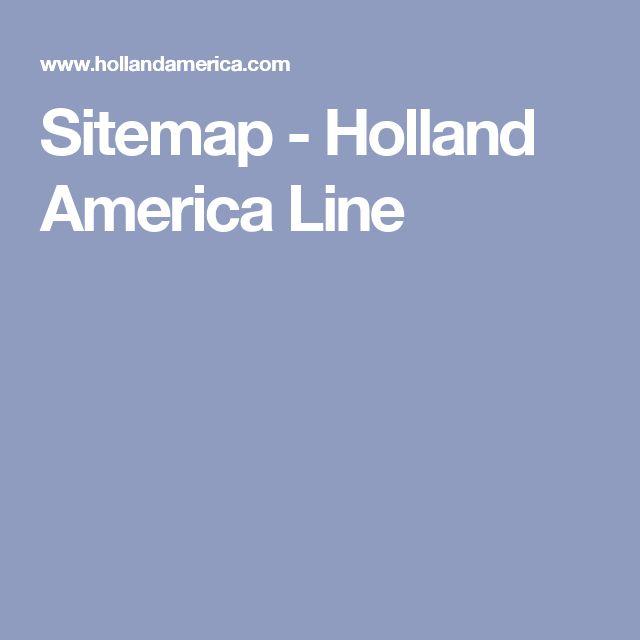 Sitemap - Holland America Line